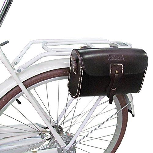 tourbon Vintage Leder Fahrrad Sattel Tasche (braun, 24cm * 16cm * 9cm)