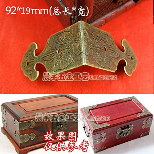Gimax 92MM Large Carved Edging Furniture Hardware Antique Corners Jewelry Paste Angle Wooden Gift Box Side Tread Edges wrap Angle