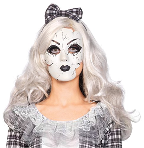 Porcelain Doll Mask Costume Accessory]()