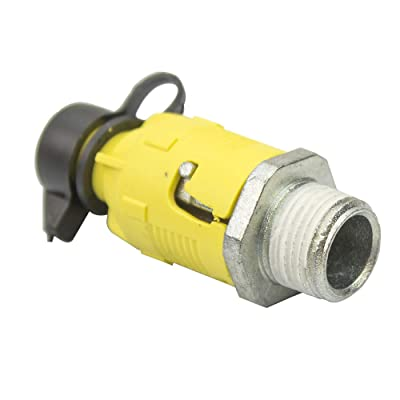 "Stens 125-508 Oil Drain Valve, 3/8""- 18"" NPTF Threads, Uses 1/2"" Hose, Quick Twist and Pull Motion to Open: Lawn Mower Deck Parts: Industrial & Scientific"