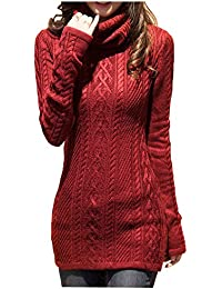 Women Polo Neck Knit Stretchable Elasticity Long Sleeve...