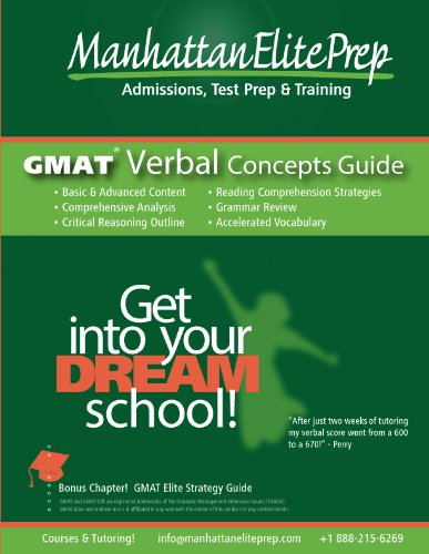 GMAT Elite Study Series: Verbal Concepts Guide