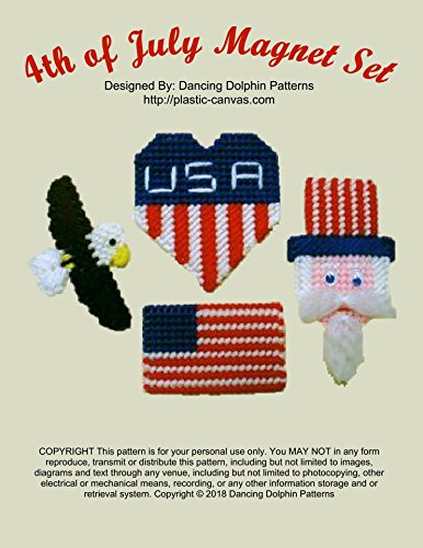 - 4th of July Magnet Set: Plastic Canvas Pattern
