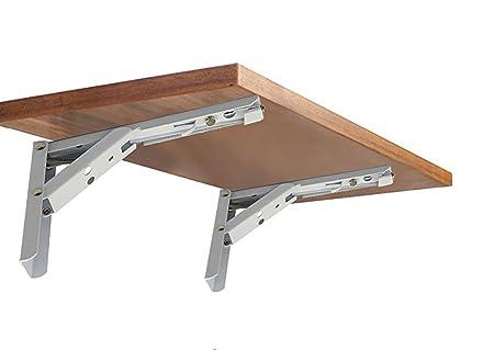 TWO TABLE FOLD DOWN BRACKET 380mm BRACKETS PAIR SHELVES WORKTOP MOTORHOME