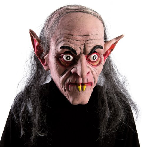 Carnival Toys 1659 Latex Mask Hair Vampire Halloween