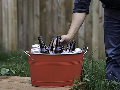 Twine Country Home Large Red Galvanized Metal Tub and Drink Bucket by by Twine (Image #4)