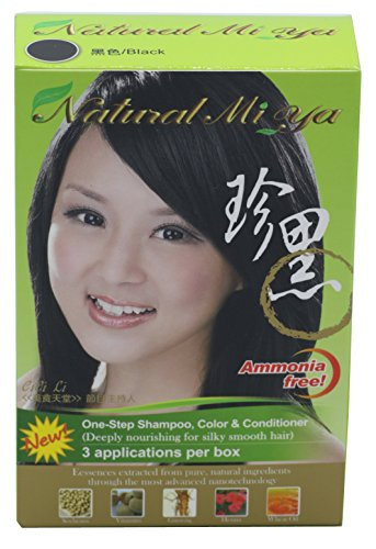 (Natural Mi Ya Hair Color, Herbal Hair Dye & Hair Nutritions by Extracted Ginseng,Henna Hair Color Colorants, Permanent (1 Pack, Black))