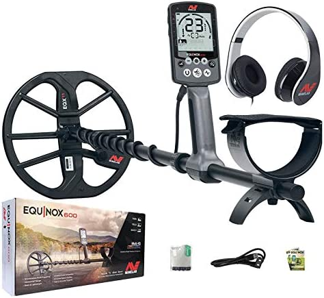 Minelab Equinox 600 Multi-IQ Metal Detector with EQX 11 Double D Smart Coil
