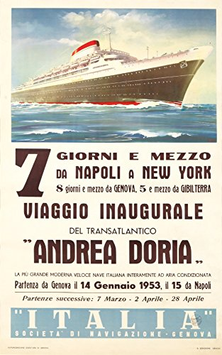 Switzerland - Andrea Doria - (artist: Patrone, Giovanni c. 1953) - Vintage Advertisement (24x36 SIGNED Print Master Giclee Print w/ Certificate of Authenticity - Wall Decor Travel Poster)