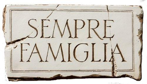 Piazza Pisano Sempre Famiglia Italian Family Forever Plaque
