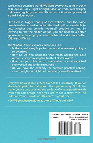 the hidden option igniting creativity to solve lifes impossible problems jonathan malm 9781977743381 amazoncom books - Are You Creative Do You Consider Yourself Creative