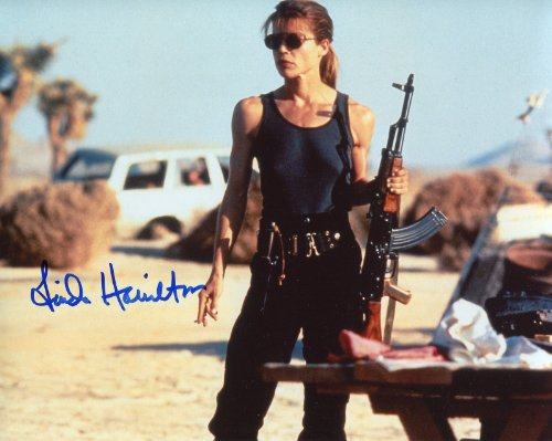 Linda Hamilton Signed / Autographed Sarah Connor Terminator 8x10 Glossy photo Photo. Includes Fanexpo Certificate of Authenticity and Proof. Entertainment Autograph Original.