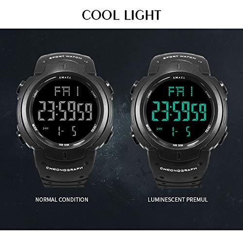 Militär klocka armé mode klocka män stor urtavla relojes hombre casual sportklockor LED digital klocka för män