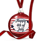 Christmas Decoration Happy 4th of July Fourth of July America Stars and Stripes Ornament