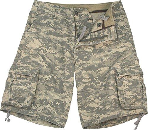 Camouflage Vintage Military Infantry Utility Cargo Shorts