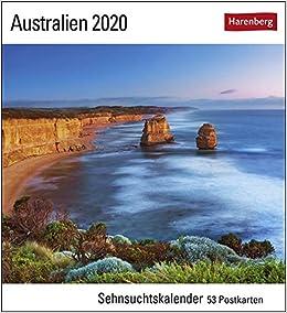Australien 2020: Sehnsuchtskalender, 53 Postkarten por Harenberg