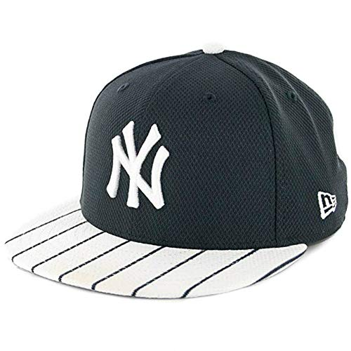 Yankees Pinstripe Hat - New York Yankees Pinstripe Bill Diamond Era Fitted Size 7 5/8 Hat Cap - Team Colors