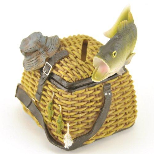 Fishing-Creel-Coin-Bank-Sculpture-45-inch-Change-Money-Holder
