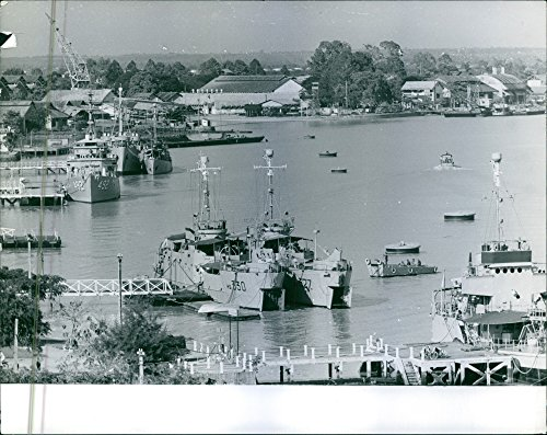 1963 Vintage Port (Vintage photo of Port in Saigon during the war, Vietnam, 1963.)