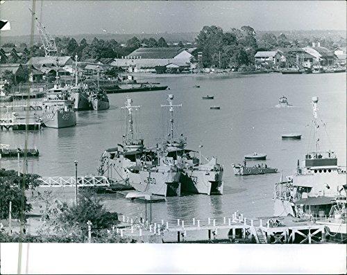 1963 Vintage Port (Vintage photo of Port in Saigon during the war, Vietnam, 1963.)