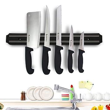 Potente soporte magnético para cuchillos de pared, color ...