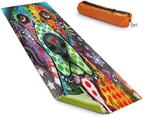 DiaNoche Designs Yoga Mats By Dean Russo - Basset Hound Dog 31