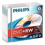 Philips 4.7 GB DVD+Rw Jwl Case 5 Pack (DW4S4J05F/17)