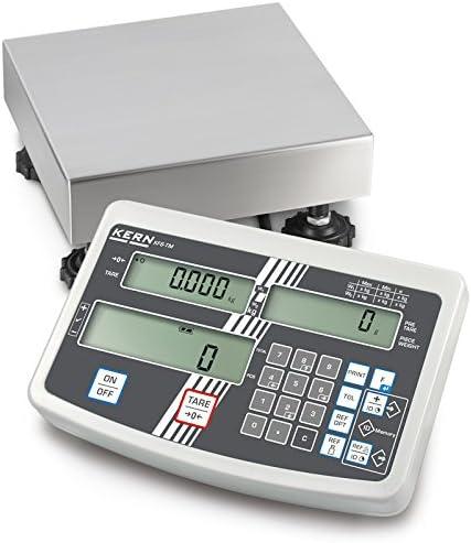 Kern IFS 6K-3SM - Plattformwaage, Industriezählwaage mit komfortabler Zehnertastatur, Wägebereich [Max]: 3 kg / 6 kg, Ablesbarkeit [d]: 1 g / 2 g, Wägeplatte: 230x230x110 mm (Edelstahl); GEEICHT