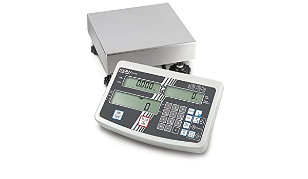 Balanza de plataforma [Kern IFS 6K-3SM] Balanza industrial con cómodo teclado numérico, Campo de pesaje [Max]: 3 kg/6 kg, Lectura: 1 g/2 g, Plato de pesaje: ...