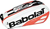 Babolat - Pure 6 Pack Tennis Bag White and Red - (B751172-149)