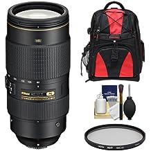 Nikon 80-400mm f/4.5-5.6G VR AF-S ED Nikkor-Zoom Lens with Backpack + UV Filter + Kit for D3200, D3300, D5300, D5500, D7100, D7200, D750, D810 Camera