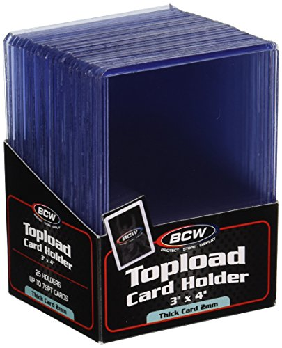 Thick 79PT Card Top Load Holder (Pack of 25), 3 x 4 ()