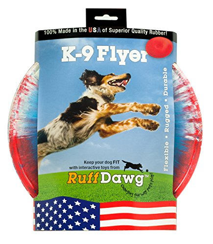(Ruff Dawg K9 Flyer Rubber Dog Toy Large Assorted Colors)