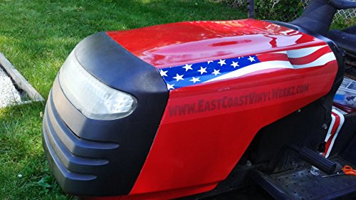 East Coast Vinyl Werkz Lawn Mower decals stickers - 2pc set - American Flag (Racing Lawn Mower Stickers)