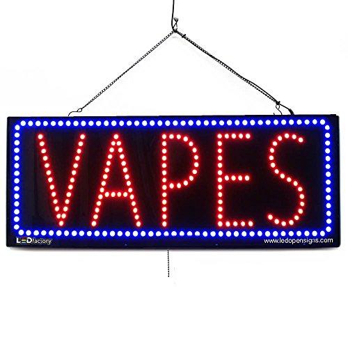 Large LED Open Sign -VAPES - 13