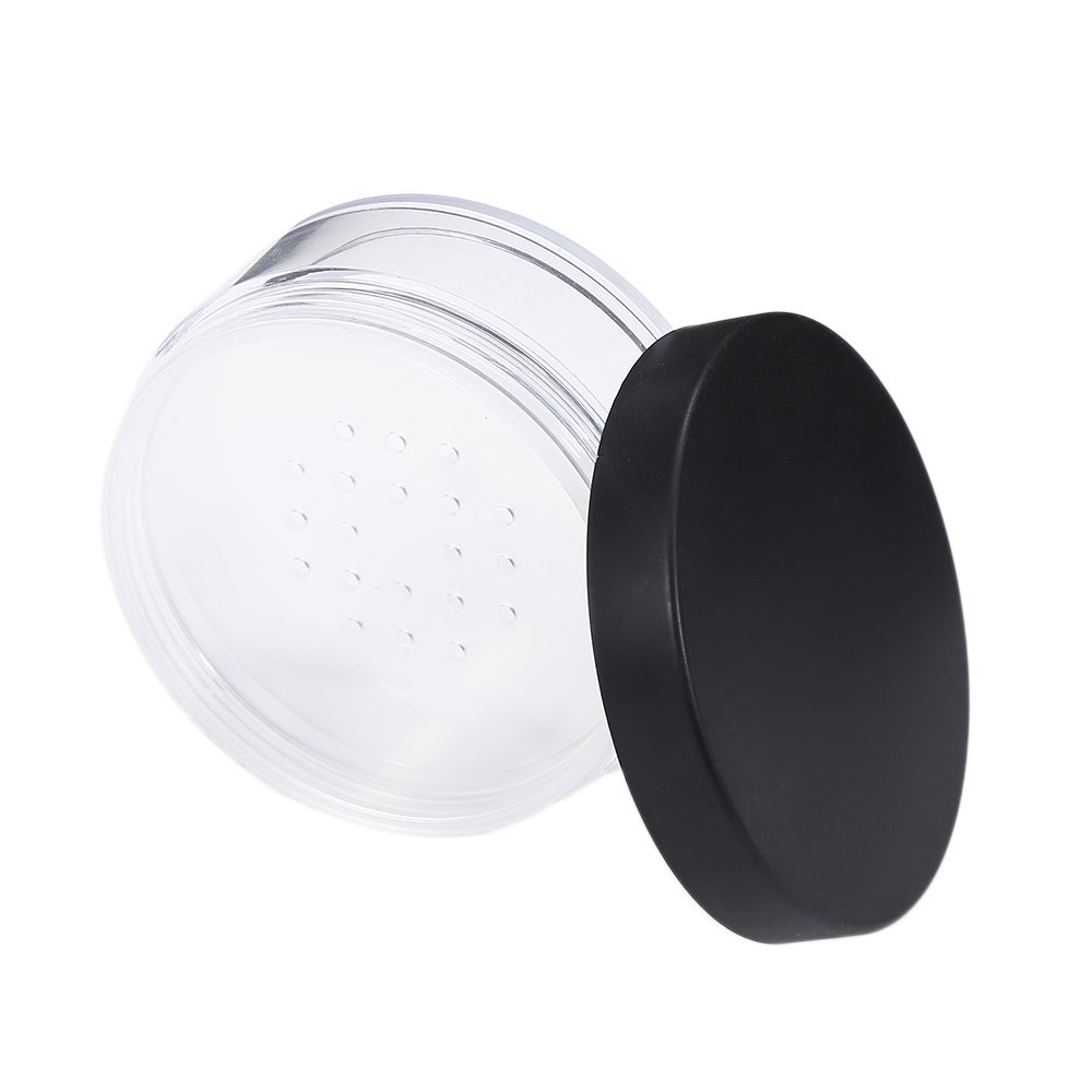 50ml Plastic Empty Powder Puff Case Loose Powder Container Face Powder Blusher Box Makeup Cosmetic Jars