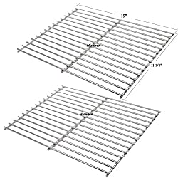 Hisencn 7521 65905 7522 7523 65904 Solid Rod Stainless Steel Cooking Grate Grids Replacement For Weber Genesis Silver A Spirit 500 Spirit E 200 Spirit E 210 Spirit S 200 Spirit S 210 Models