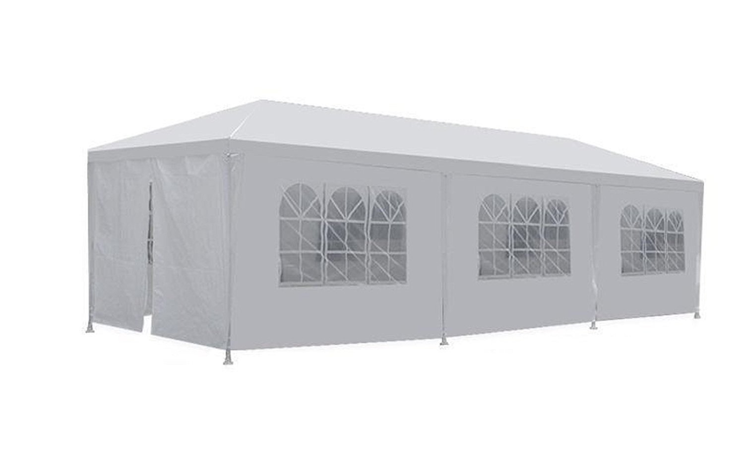 10'x30' White Outdoor Gazebo Canopy Party Wedding Tent 8 Sidewalls Removable Walls