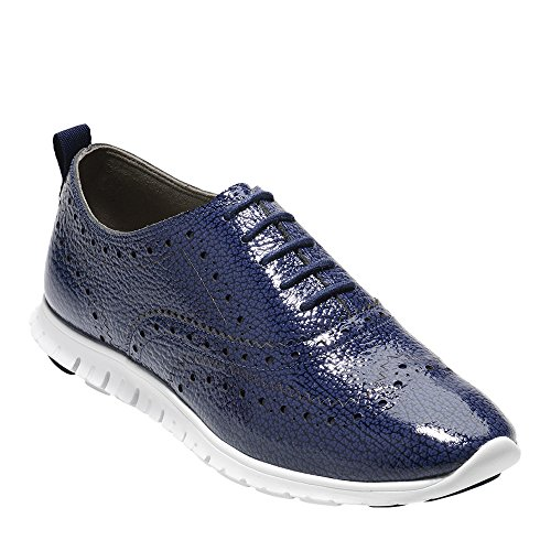 Cole Wing Tip Bubble Haan Blue Oxford Patent Women's Zerogrand Marine ZtqrZI