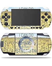 MightySkins Skin Compatible with Sony PSP – Through Christ | Protective, Durable, and Unique Vinyl Decal wrap Cover | Easy to Apply, Remove, and Change Styles | Made in The USA
