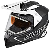 Castle X Mode Dual-Sport SV Team Electric Snowmobile Helmet (3XL, Black)