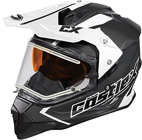 Castle X Mode Dual-Sport SV Team Electric Snowmobile Helmet (LRG, Black)