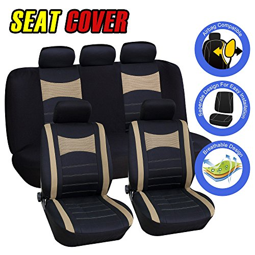 Car Seat Covers Full Set 5 Head Rest For Auto Interior Accessorie Universal Size