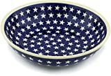 Polish Pottery 9¾-inch Bowl (America The Beautiful Theme) + Certificate of Authenticity