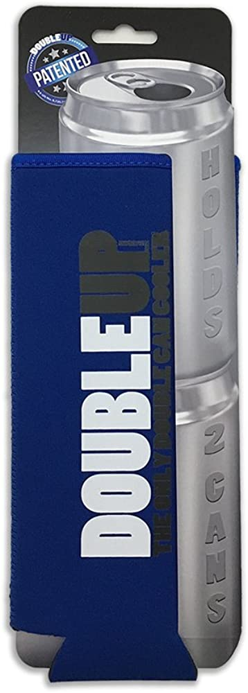 DoubleUP, Double Can Cooler – The Can Cooler That Holds Two Cans – Perfectly Fits Two 12oz or Two 16oz cans in This Double Can Coolie.