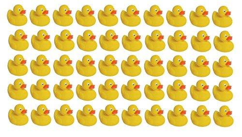 Mini Rubber Ducky Baby Bath Toy 50-Pack -