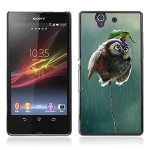 CQ Tech Phone Accessory: Carcasa Trasera Rigida Aluminio Para Sony Xperia Z L36H - Cute Mouse & Owl