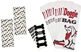 Dog Treat Paper Sacks/Doggie Bags, Dog Bone Vinyl Chalkboard Labels, Paw Print Paper, Puppy Party, Straws Dog Theme Party Supplies Black, White, Red 24 Bags, 24 Labels, 50 Straws Review