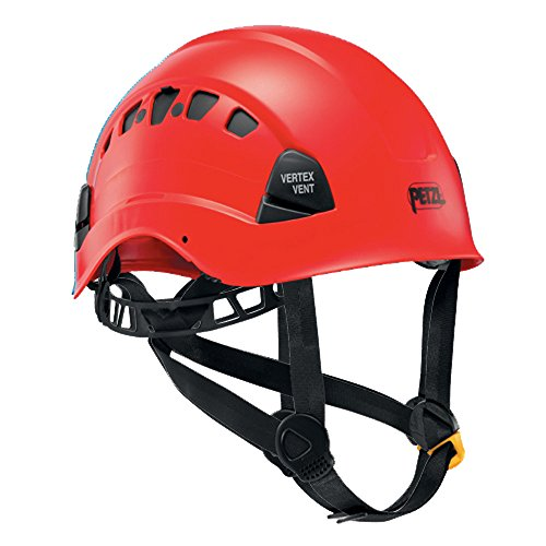PETZL - Vertex Vent, Ventilated Helmet for Work at Height, Red - Hard Hat Helmet
