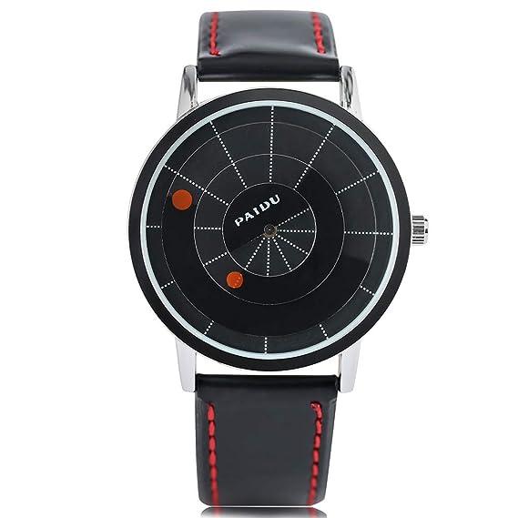 Relojes para Hombres Mujeres, Reloj de Pulsera Hombres Moderno Mujer Cuarzo Deporte Casual Dial de